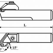 Резцы сборные расточные с механическим креплением цилиндрической вставки с режущим элементом из АСПК («Карбонадо») и Композита-01 (Эльбора-Р) ИС-204 фото