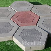 Тротуарная плитка Шестигранник фото