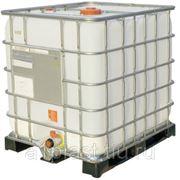 Кубическая емкость 1000 л с допуском UN на пластиковом поддоне фото