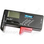 Цифровой тестер аккумуляторов и батареек для проверки уровня заряда фото