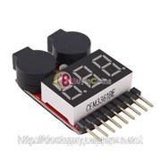 Вольтметр тестер напряжения батареи со звуковым сигналом фото