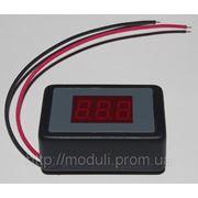 Вольтметр постоянного тока ВПТ-0,36А автомобильный (красный) фото
