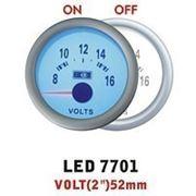 Дополнительный прибор Ket Gauge LED 7701 вольтметр. Дополнительный прибор купить. фото