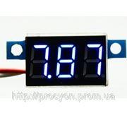 Цифровой вольтметр 3.3-17 синий фото