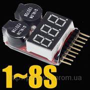 Вольтметр батарей 1-8 фото