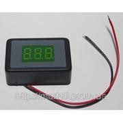 Вольтметр постоянного тока ВПТ-0,36А автомобильный (зелёный) фото