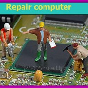 Сложный ремонт ПК, ноутбуков с заменой видеочипа и матрицы фото