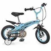 Велосипед детский PROF1 12д. LMG12121 Projective,магниевая рама,розовый, доп.колеса фото