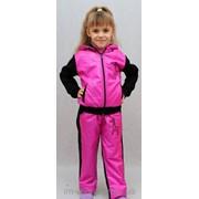 Спортивный костюм теплый детский розовый фото