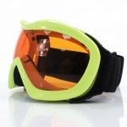 Маска снегоходная №20 Оранжевая с двойным стеклом фото