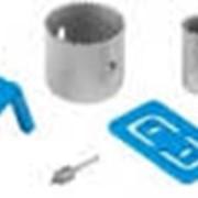 Набор ЗУБР ЭКСПЕРТ с пластиковыми шаблонами и кольцевыми пилами 25, 54мм, для врезания замков, 7 пред. Артикул: 2954-54-H7 фото