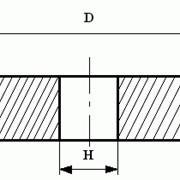 Круги из кубического нитрида бора (КНБ) плоские прямого профиля на керамической связке формы 14А1 фото