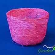 Корзина Гиацинт 70*100 ярко-розовая из сизаля фото