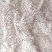 Мех для игрушек - травка, цвет белый. МИ 11