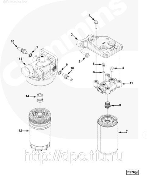 Fleetguard Fuel Filter Housing