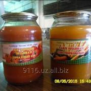 Соки овощные томатный и морковный текло банка (1 и 3 литровая)