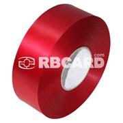 Печать на красной сатиновой ленте фото
