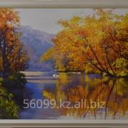 """Картина """"Лебеди в пруду"""" 66х81, 30х40 фото"""