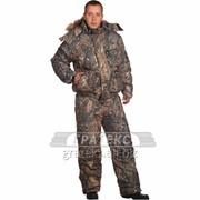 Костюм зимний Сапсан куртка, полукомбинезон, тк.Alova, цв. КМФ фото