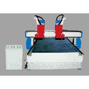 Станок ЧПУ 2 шпинделя 1300x2500х150 мм фрезерно-гравировальный (для рекламы,изготовления мебели,моделей) фото