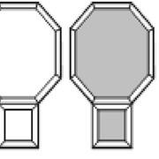 Форма для тротуарной плитки Ракетка гладкая молоток рельеф фото