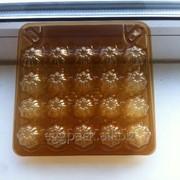 Упаковка для перепелиных яиц на (20) ячеек ПЭТ прозрачная коричневая фото