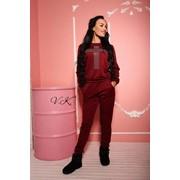 Женский спортивный костюм с аппликацией из камней, в расцветках фото
