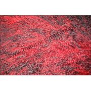 Овчина тибетская красно-чёрная фото