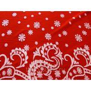 Мех искусственный снежинки на красном фото