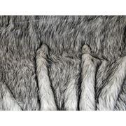 Мех искусственный песец серый фото