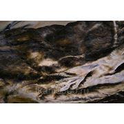 Мех искусственный темно - коричневый фото
