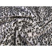 Мех искусственный леопард серый фото