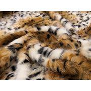 Мех искусственный длинноворсовой леопард фото