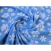 Мех искусственный снежинки на голубом фото