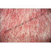 Овчина тибетская розово-белая фото