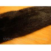 Мех натуральный норка самка темно-коричневая фото
