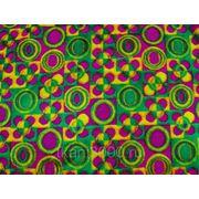 Мех искусственный разноцветные круги фото