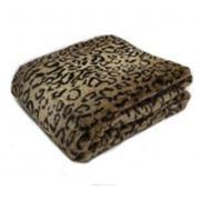 Плед искусственный мех Леопард фото