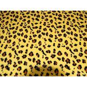 Мех искусственный леопард желтый фото
