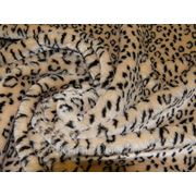 Мех искусственный леопард желто-коричневый фото