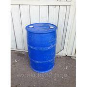 Бочка пластиковая, пищевая 200 литров, две пробки, б/у фото