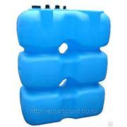 Танк для топлива 1500 л (1500*750*1650), с крышкой и заглушкой, синий