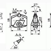 Резцы алмазные специальные для профилирования абразивных червячных кругов на станках типа «Матрикс» ИР75; ИР76; ИР77 фото