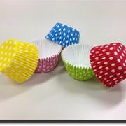 Цветные формы в горошек PolkaDotsCupCakes фото