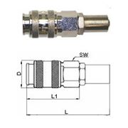 GAV UNI-B6 458/2 бс Переходник для шланга 8х17 фото