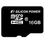 Карта памяти Silicon Power 16Gb microSDHC class 10 (SP016GBSTH010V10) фото