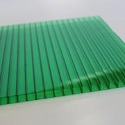Поликарбонат сотовый 12000х2100х4 зеленый фото
