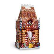 Новогодняя упаковка из картона Замок большой Карамельный фото