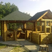 Установка деревянных беседок. фото