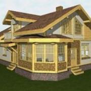 Строительство комбинированных домов. фото